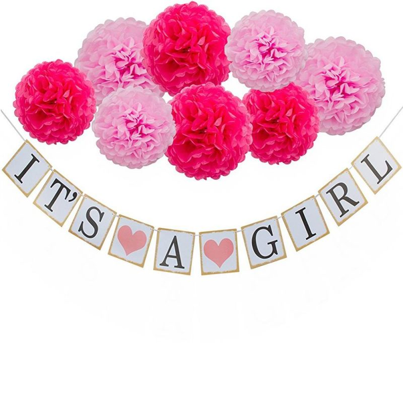 IT'S A Girl Bunting Banner Decoration 01