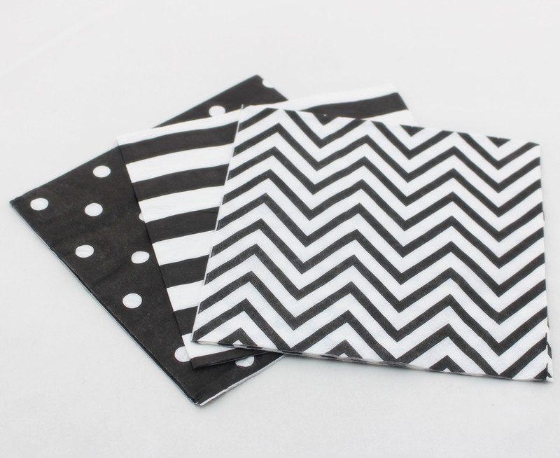 black-paper-napkin