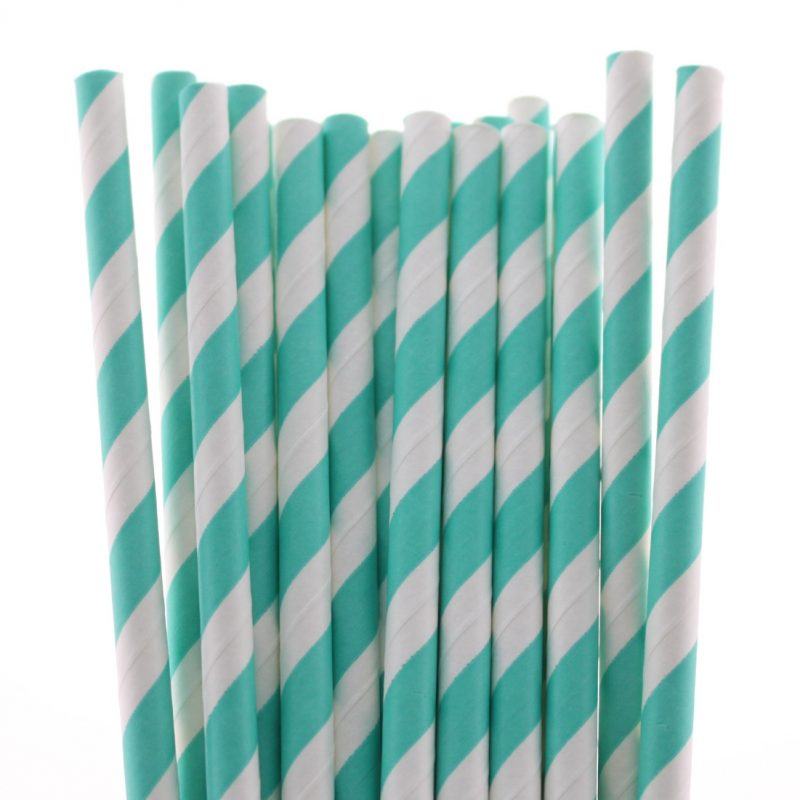 12 striped paper straw-3252c