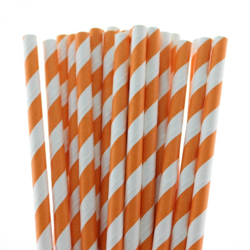 14 striped paper straw-158c