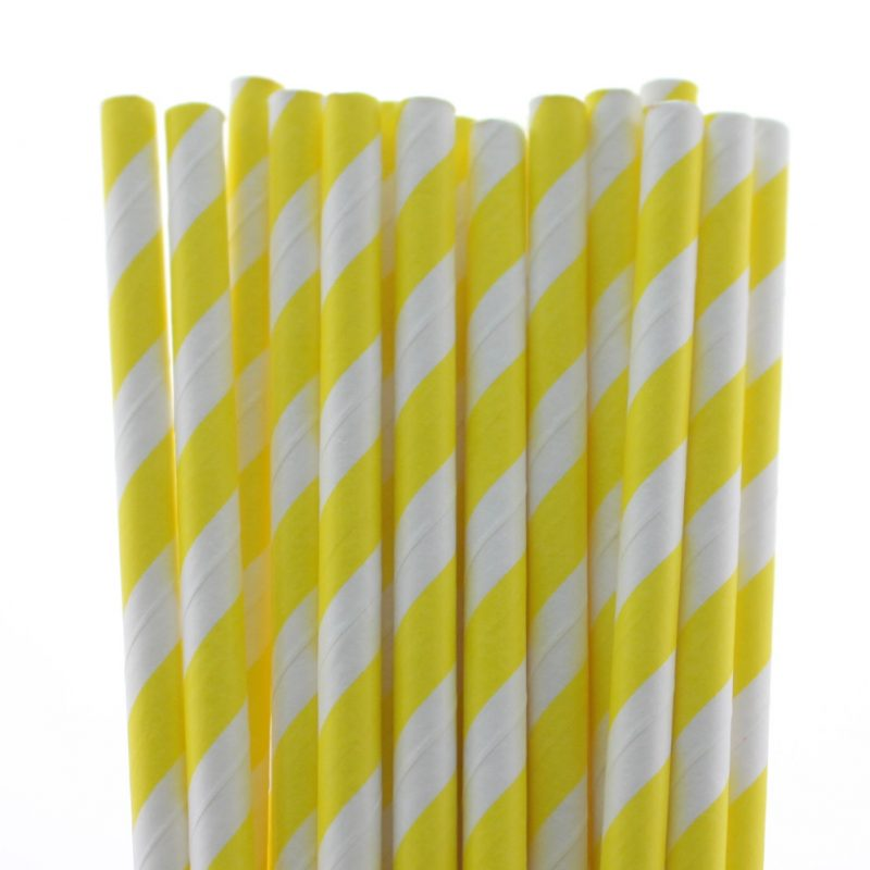 16 striped paper straw-102c