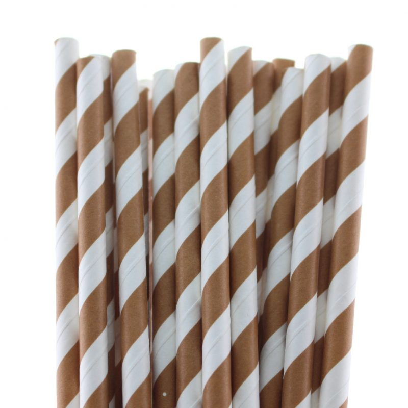 18 striped paper straw-7574c