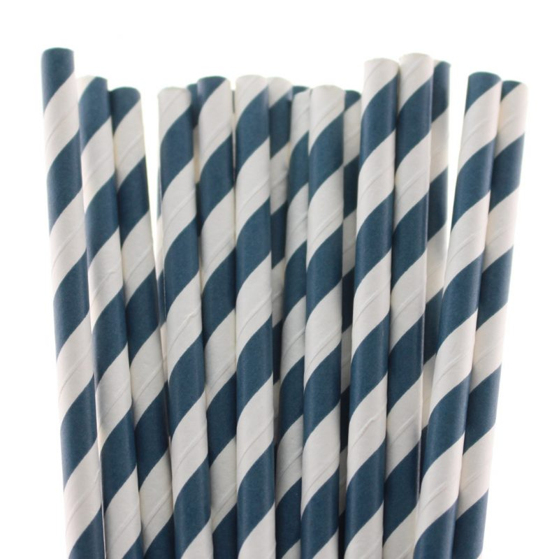 21 striped paper straw-647c