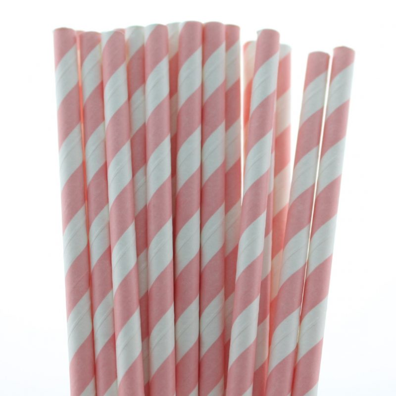 5 striped paper straw-508c
