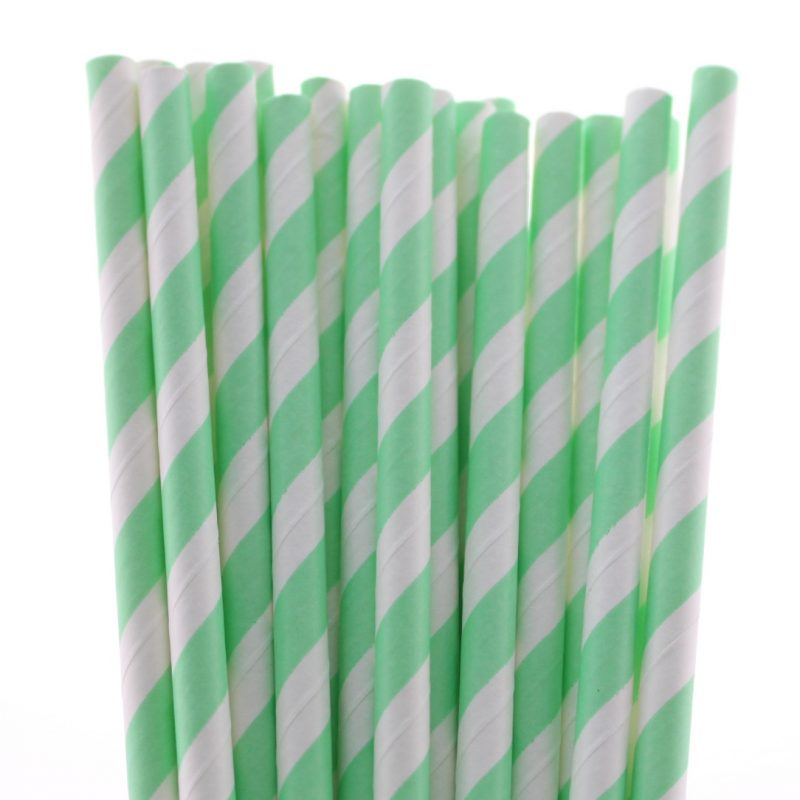 7 striped paper straw-566c