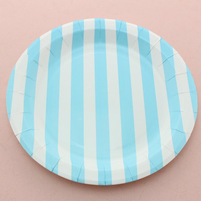 Round Stripe Paper Plate 2905C