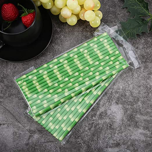 bamboo straws with polybag packing